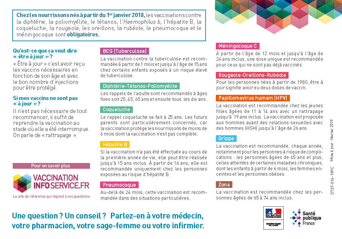 Calendrier 2019 Vaccinal.Vaccinations Pharmacie De Sauveterre